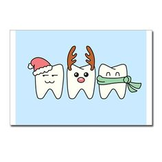 Dental Christmas  Funny Postcards Package of 8 by CafePress