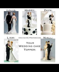 Cute !! One Direction Cakes, One Direction Imagines, One Direction Pictures, Louis Imagines, 1d Imagines, Harry Styles Imagines, 1d Preferences, One Direction Preferences, Wedding Cake Toppers