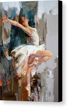 Catf Canvas Print featuring the painting Ballerina 22 by Mahnoor Shah