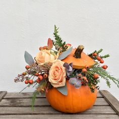 As I have a few pumpkins leftover I've decided to make some to sell. if you would like your own very unique pumpkin arrangement for your home or loved ones please do contact me limited availability Fall Wedding Flowers, Wedding Flower Inspiration, Autumn Wedding, Pumpkin Arrangements, Flower Arrangements, Holiday Themes, Holiday Decor, Autumn Home, Autumn Fall