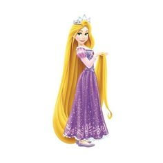 York Wallcoverings RMK2552GM Princess Rapunzel Peel and Stick Giant (€24) ❤ liked on Polyvore featuring home, children's room, children's decor, home decor, wall decals and wallpaper