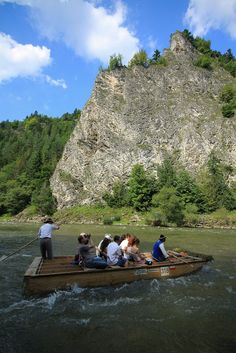 Rafting down the Dunajec Gorges - Dunajec forms the border between Slovakia and Poland. The river Dunajec runs through the National park of Pieniny and every year thousand of tourists come here rafting