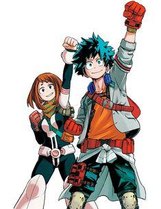 Boku no Hero Academia | My Hero Academia | Izuku Midoriya & Ochako Uraraka | Anime | Fanart | SailorMeowMeow