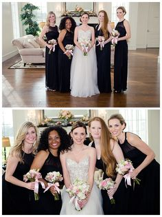 Bride and bridesmaids at The Milestone Denton by brittanybarclay.com