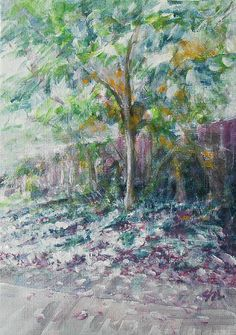 From Fine Art America  C2 B7 It All Started Here By Jane See Janeseeart Courtyard Impressionism Painting