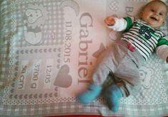 Siva personalizovana decka s udajmi o narodeni babatka;)