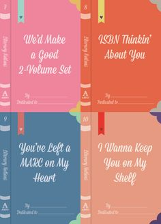 Download our Literary Notions valentines to give to all of your librarian friends! Just in time for Valentine's day!