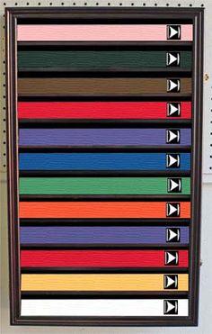 Tae Kwon Do Belt Display Case Cabinet