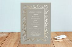 Gilded Branches Foil-Pressed Wedding Invitations by Laura Hankins at minted.com