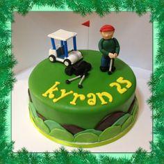 Golf theme cake - by Piece of Cake