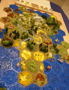 Posted Image, might have been reduced in size. Click Image to view fullscreen. Rpg Board Games, Fantasy Board Games, Monopoly, Catan Board, Settlers Of Catan, Board Game Design, Anime Crafts, Video Game Anime, Man Games