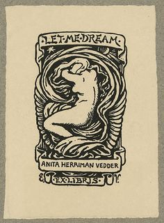 Bookplate of Anita Herriman Vedder, Rome, Italy (LOC)