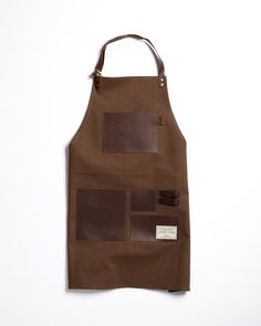 • TRVR Waxed Canvas and Leather work apron: tasteful and tough