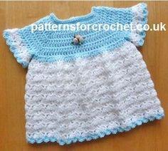 Free baby crochet pattern cute dress usa