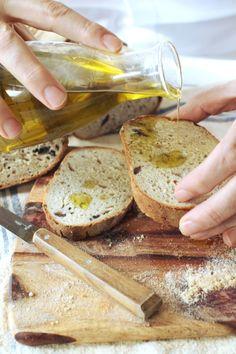 Black olives & orange Bread