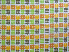 Image of 60s Scandi Style Floral fabric - 45cm square