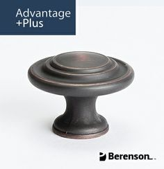 Berenson Advantage Plus 4 Cabinet Hardware: Item No 9365-10VB-P - Cabinet Knob in Verona Bronze. Questions? Call 1.800.333.0578 or email info@berensonhardware.com