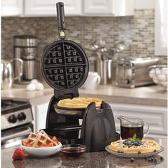 Hamilton Beach 26030 Belgian Waffle Maker ($53) ❤ liked on Polyvore featuring home, kitchen & dining, small appliances, silver, hamilton beach, belgian waffle iron, belgian waffle maker, hamilton beach waffle maker and hamilton beach waffle baker