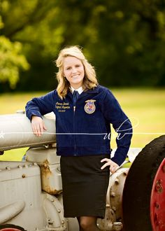 ffa girl with tractor