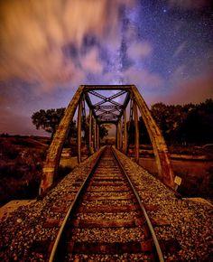 Western Colorado Train Bridge and the Milky Way - pinned by www.wfpcc.com