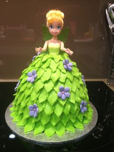 My daughter's Tinkerbell birthday cake I made for her 2nd birthday