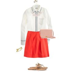 """Pink, red & tipped boy shirt"" by maomi on Polyvore"