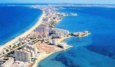 La Manga Flugansicht  Mehr Infos zu Ihrer Reise nach Murcia:  http://odinparadisetravel.com/reiseziele/spanien