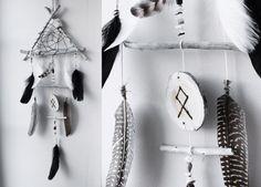 Nordic Shaman attrape-rêve triangle de bois par BoudoirDuChaman
