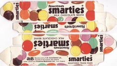 Rowntrees Smarties box, mid Still my favorite lollies.I only wish they hadn't changed to the non artificial flavoring and colors.