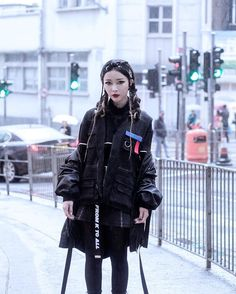 Wearing @onair_clothing vest in the rain  / Photo by @mart_yeung  via BOLD SHOP HONG KONG OFFICIAL INSTAGRAM - Celebrity  Fashion  Haute Couture  Advertising  Culture  Beauty  Editorial Photography  Magazine Covers  Supermodels  Runway Models