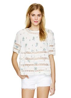 WILFRED BEAUDRY BLOUSE - Like an antique find in a specially finished, distinctively crinkled fabric