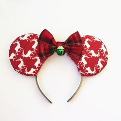 Winter Mickey Ears Disney Inspired Ears Winter by ToNeverNeverland