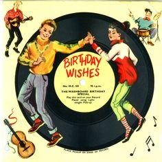 Birthday wishes vintage record Happy Birthday Dancing, Happy Birthday Vintage, Retro Birthday, Happy Birthday Wishes, Birthday Greetings, It's Your Birthday, Birthday Kids, Birthday Messages, Birthday Images