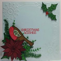 Christmas card made using inky doodles stamps