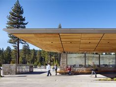 WRNS Studio designed a transit center for Tahoe City in California.