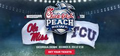 Don't miss the Peach Bowl Wednesday, December 31, 2014!
