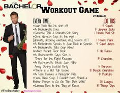 Set to Turbo: The Bachelor Workout Game!! This is what happens when I am waiting on a work out to come in :)