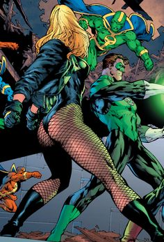 Black Canary and Green Lantern by Ed Benes and Sandra Hope Arte Dc Comics, Dc Comics Art, Marvel Girls, Comics Girls, Batgirl, Supergirl Dc, Batwoman, Comic Books Art, Comic Art
