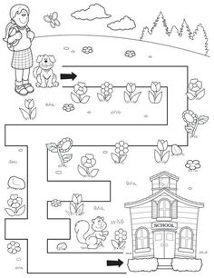 Crafts,Actvities and Worksheets for Preschool,Toddler and Kindergarten.Lots of worksheets and coloring pages. Mazes For Kids Printable, Free Printable, Maze Worksheet, Toddler School, Math For Kids, Kindergarten Worksheets, Preschool Activities, Coloring Pages, Google