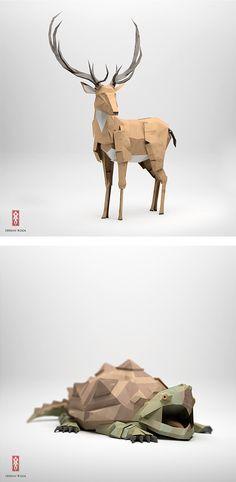 The Paper Fox Project by Jeremy Kool | Inspiration Grid | Design Inspiration