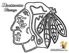 Blackhawks Chicago Hockey Free Coloring Pictures pages | NHL