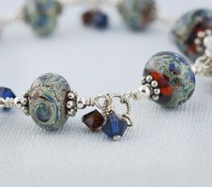 Starry Starry Nights Cha Cha Bracelet by BlueMuseJewelry on Etsy, $129.95