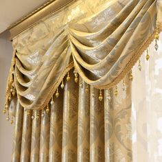 Curtains Tulle for Living Room Dining Bedroom Valance Luxury European Style Thickening Shading Modern Window Mantle Villa Cheap Curtains, Valance Curtains, Home Decor Store, Cheap Home Decor, Bedroom Valances, Interior Styling, Interior Decorating, Modern Windows, Home Textile