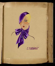 Chapeau Etudiant © Patrimoine Lanvin. When Jeanne Lanvin was 16 years old, she created her first hat while working as apprentice with a milliner. It was the success of her hats designs that led her to launch her own business and to designed the hats of the most fashionable Parisiennes at the time