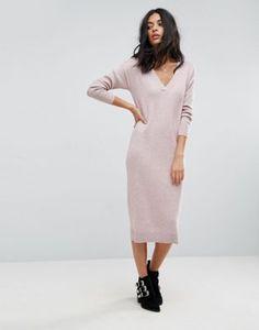 Трикотажное платье с добавлением шелка ASOS