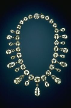THE NAPOLEAN DIAMOND NECKLACE | It was a gift from Emperor Napoleon to his second wife, Marie-Louise, to celebrate the birth of their son, Napoleon II, the Emperor of Rome, in 1811.  The elegant silver and gold necklace, designed by Etienne Nitôt and Sons of Paris was completed in 1811 and consists of 234 diamonds, from India or Brazil.