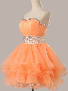 New Fashion Off The Shoulder Beads Short Prom Dress Sexy Evening Dress Short Homecoming Dress Modest Homecoming Dresses, Short Graduation Dresses, Orange Prom Dresses, Orange Dress, Prom Gowns, Orange Orange, Grad Dresses, Quinceanera Dresses, Dress Prom
