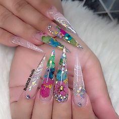 Polygel Nails, Swag Nails, Cute Nails, Pretty Nails, Clear Nail Designs, Acrylic Nail Designs, Nail Art Designs, Gender Reveal Nails, Nail Polish Kits