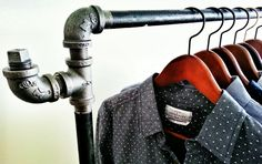 Industrial Pipe #Clothing #Rack by #ColeHammGoods