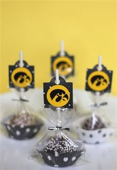 Iowa Hawkeye Cake Pops
